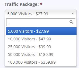 Guarenteed Web Traffic